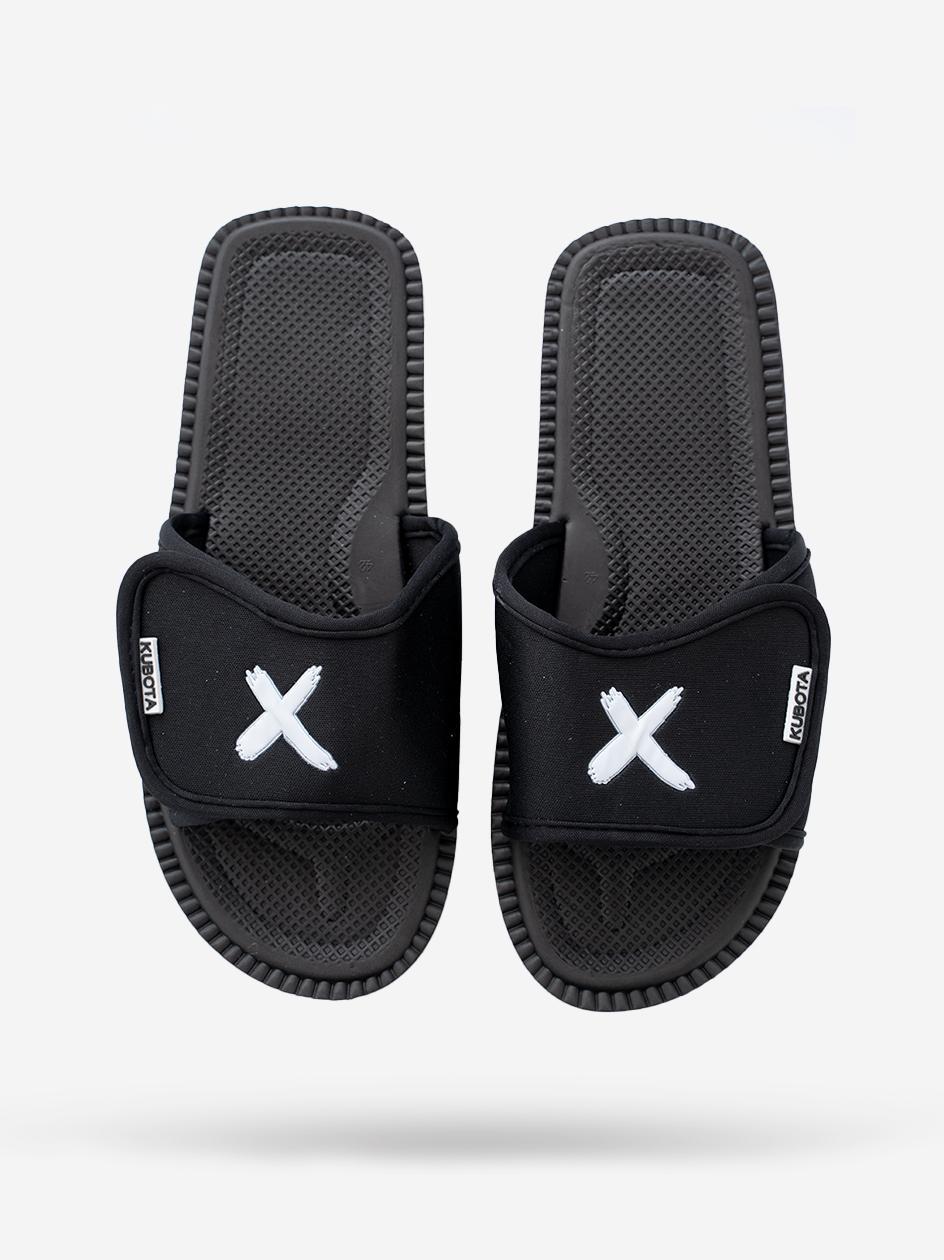 Klapki Na Rzep Kubota x Point X Logo Czarne