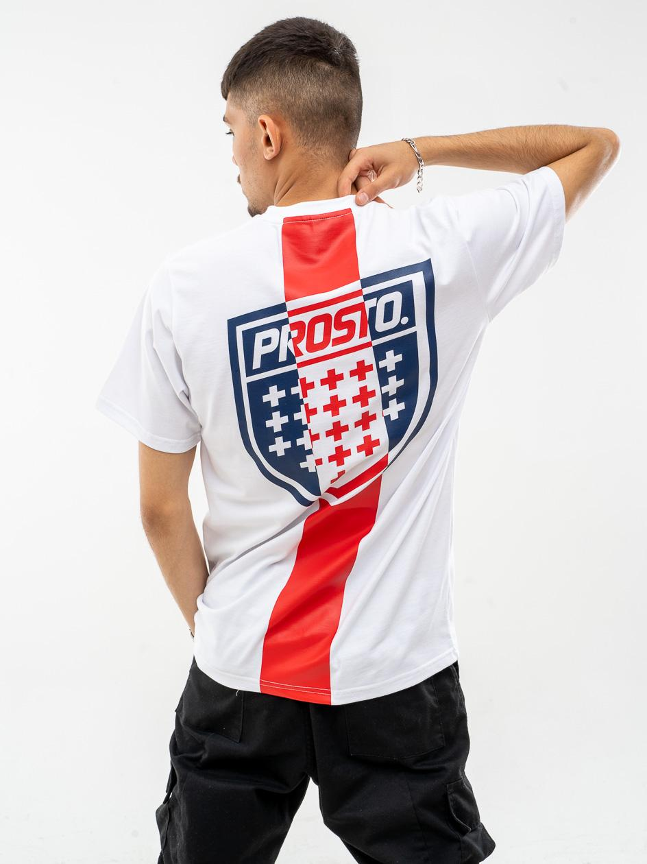 Koszulka Z Krótkim Rękawem Prosto Shistrip Biała