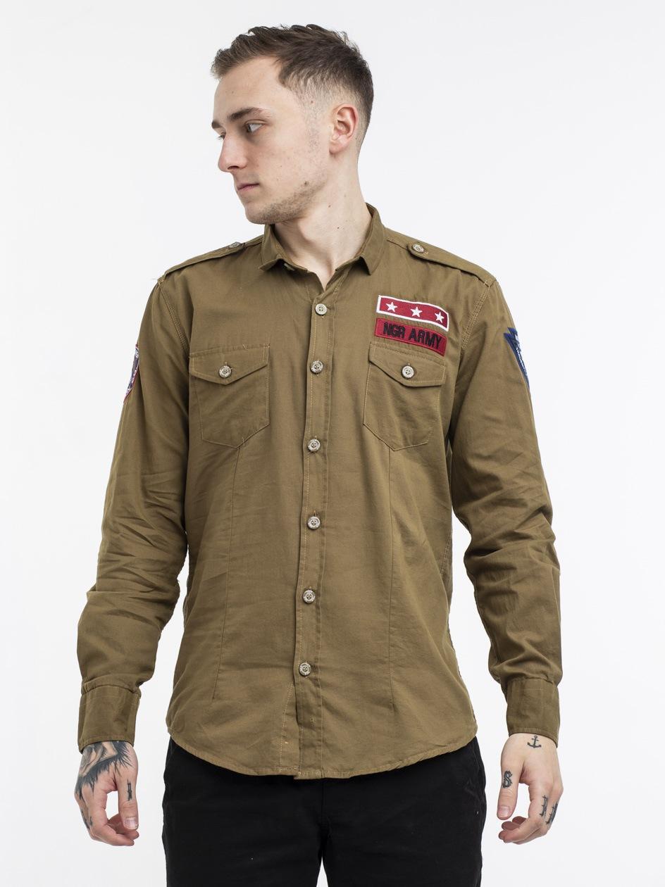 NGR Army LS Shirt Brown