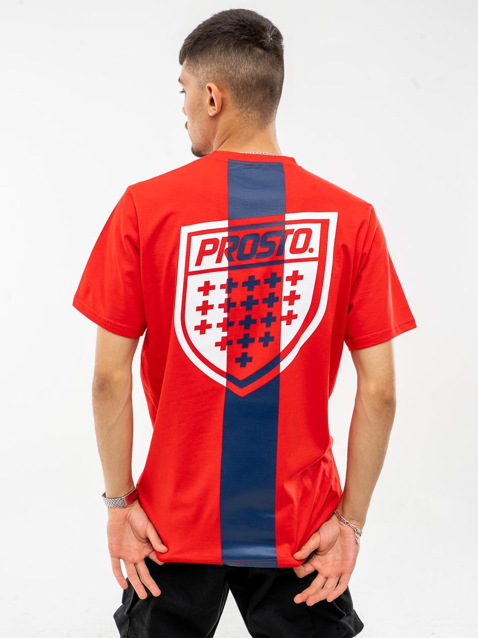 Koszulka Z Krótkim Rękawem Prosto Shistrip Czerwona