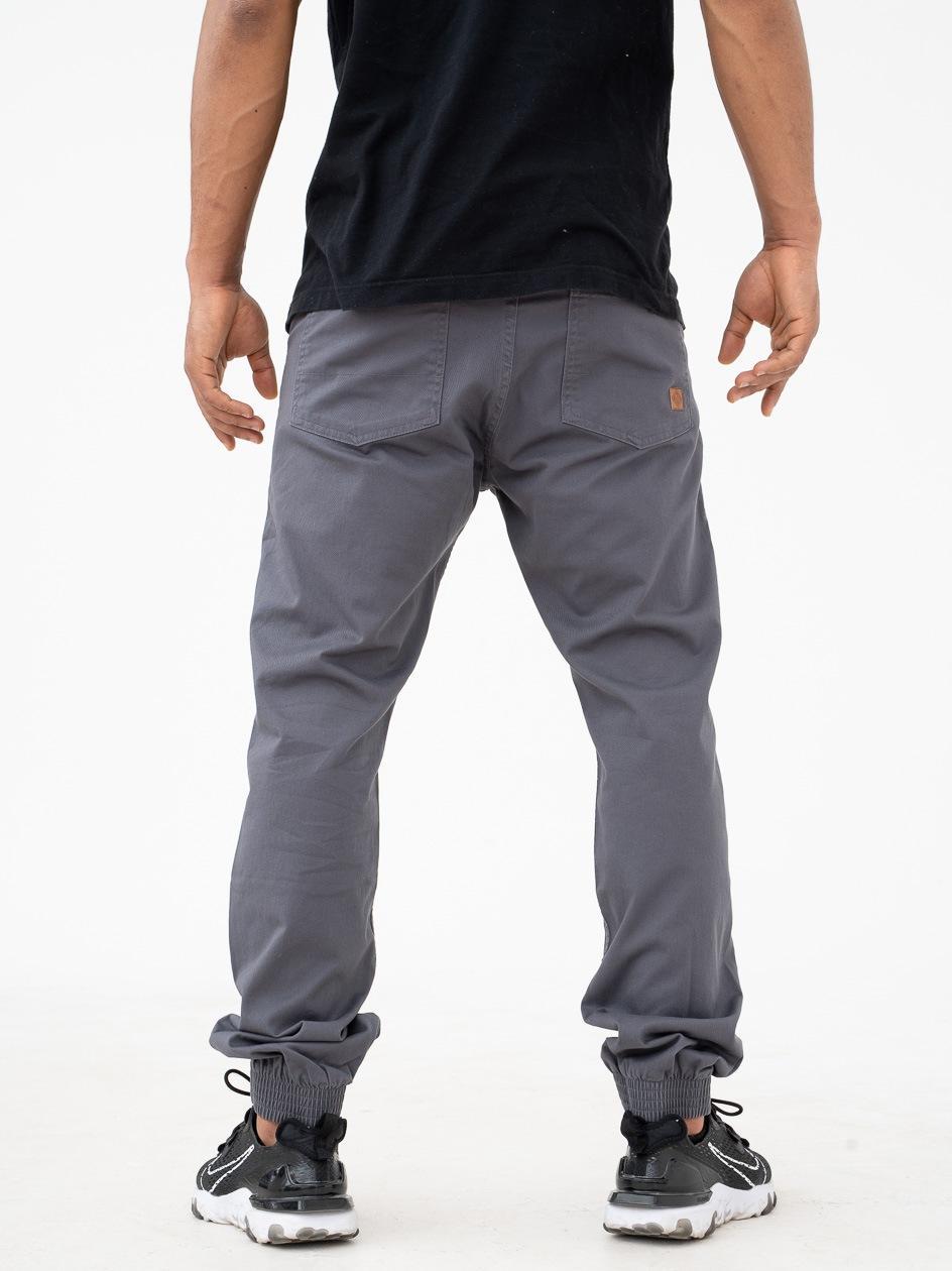 Spodnie Materiałowe Jogger Metoda Sport Diamond Ciemne Szare