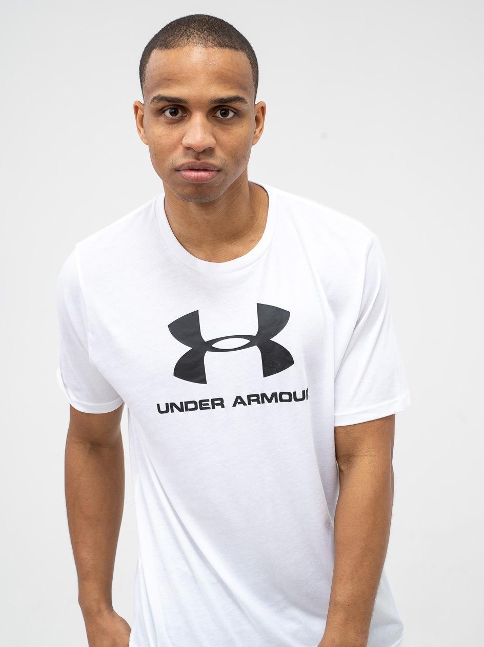 Koszulka Z Krótkim Rękawem Under Armour Sportstyle Logo Biała