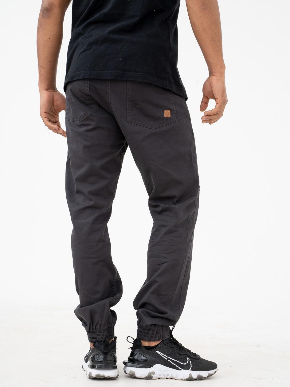 Spodnie Materiałowe Jogger Metoda Sport Diamond Grafitowe