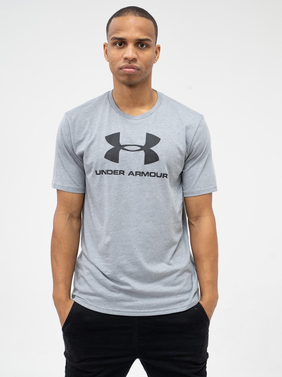 Koszulka Z Krótkim Rękawem Under Armour Sportstyle Logo Szara