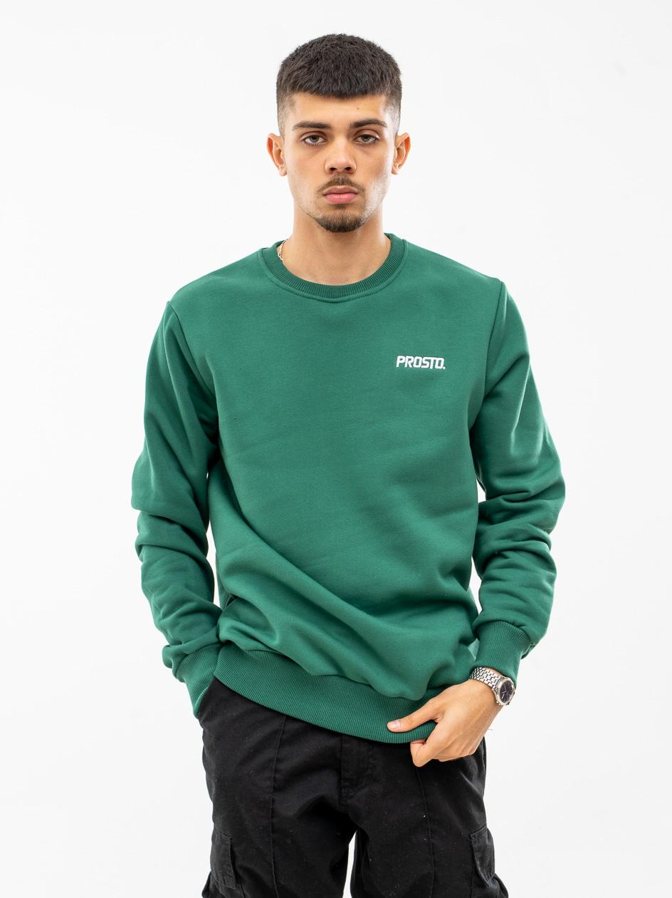 Bluza Bez Kaptura Prosto Basick Ciemna Zielona