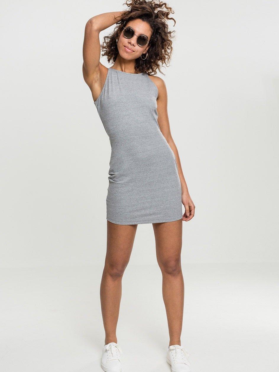 Sukienka Mini Z Wyciętymi Plecami Urban Classics TB1898 Szara