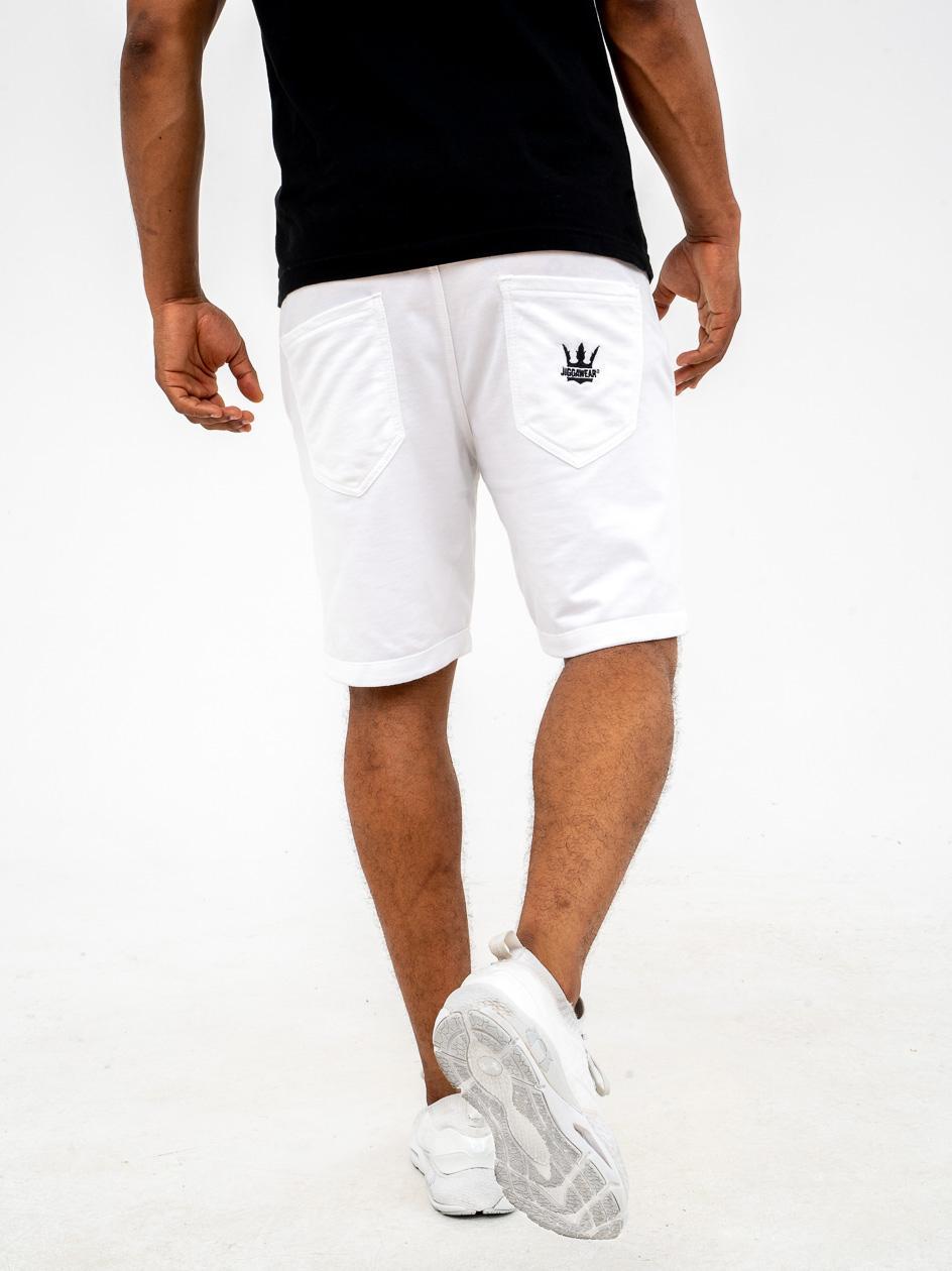 Krótkie Spodenki Dresowe Jigga Wear Crown Białe