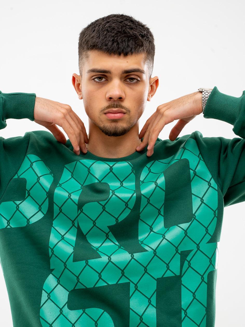 Bluza Bez Kaptura Prosto Big Fence Ciemna Zielona