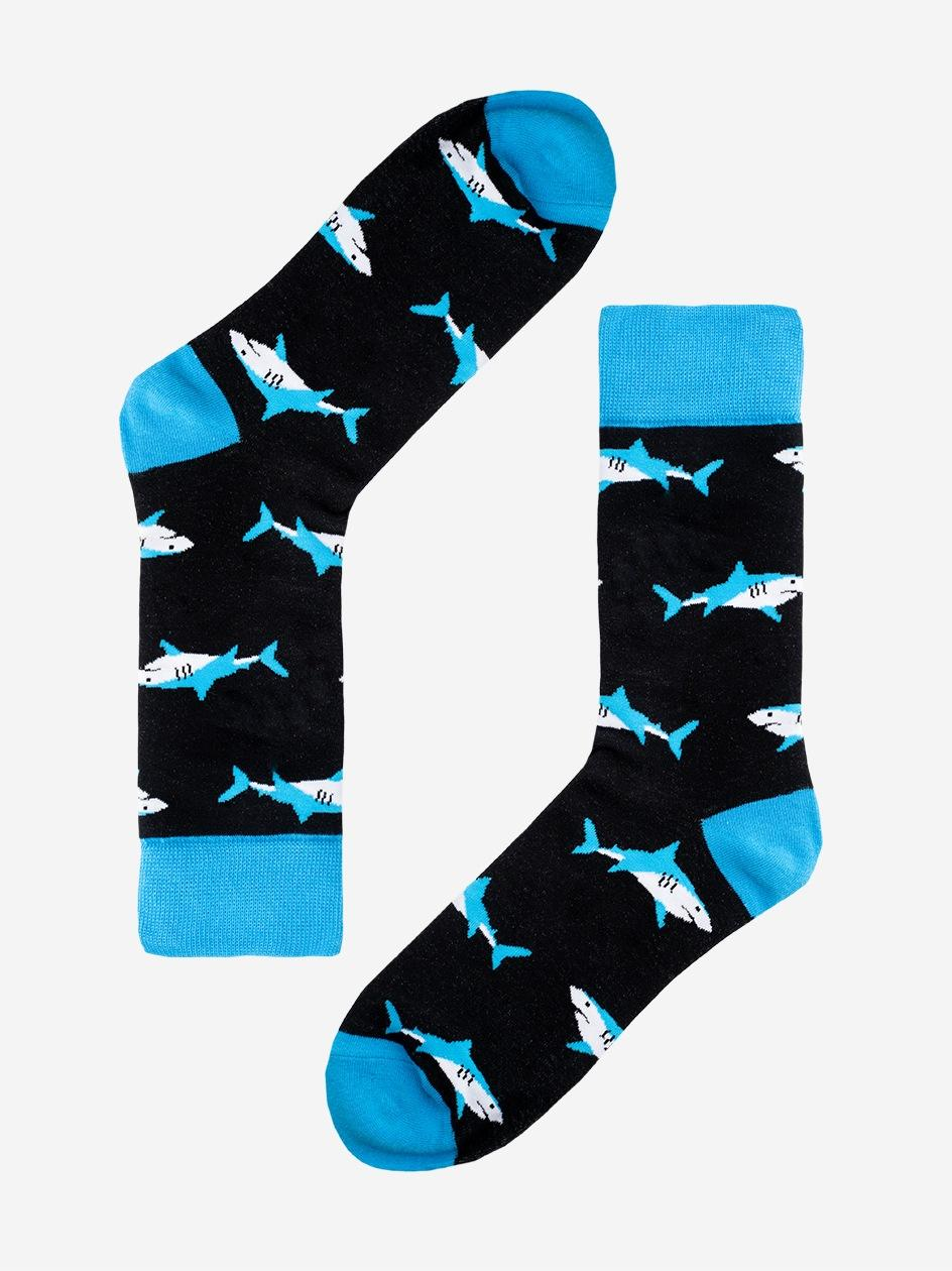 Długie Skarpety We Wzory MyStars x Blind Box Floating Shark Czarne