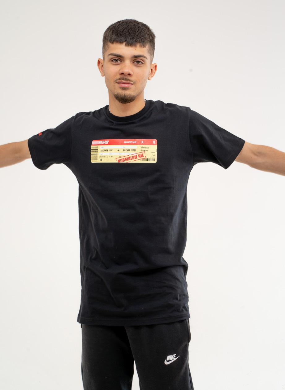 Koszulka Z Krótkim Rękawem BOR Normalnie Czarna