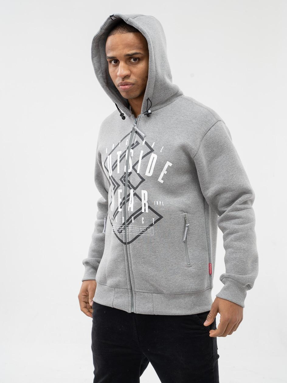 Bluza Rozpinana Z Kapturem Outsidewear Represent Szara