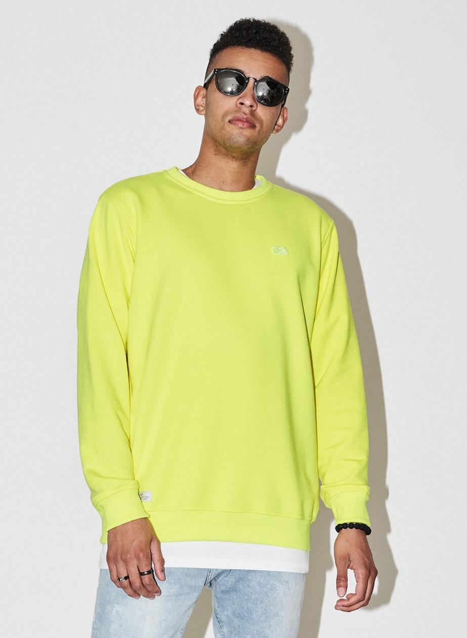 Bluza Bez Kaptura Lucky Dice Basic Neonowa Żółta