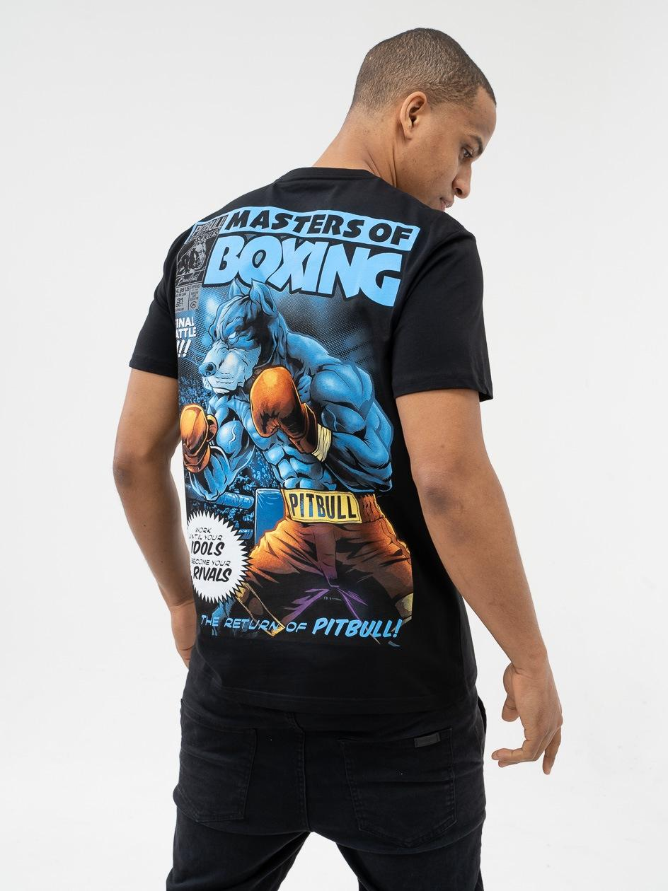 Koszulka Z Krótkim Rękawem Pitbull West Coast Master Of Boxing Czarna