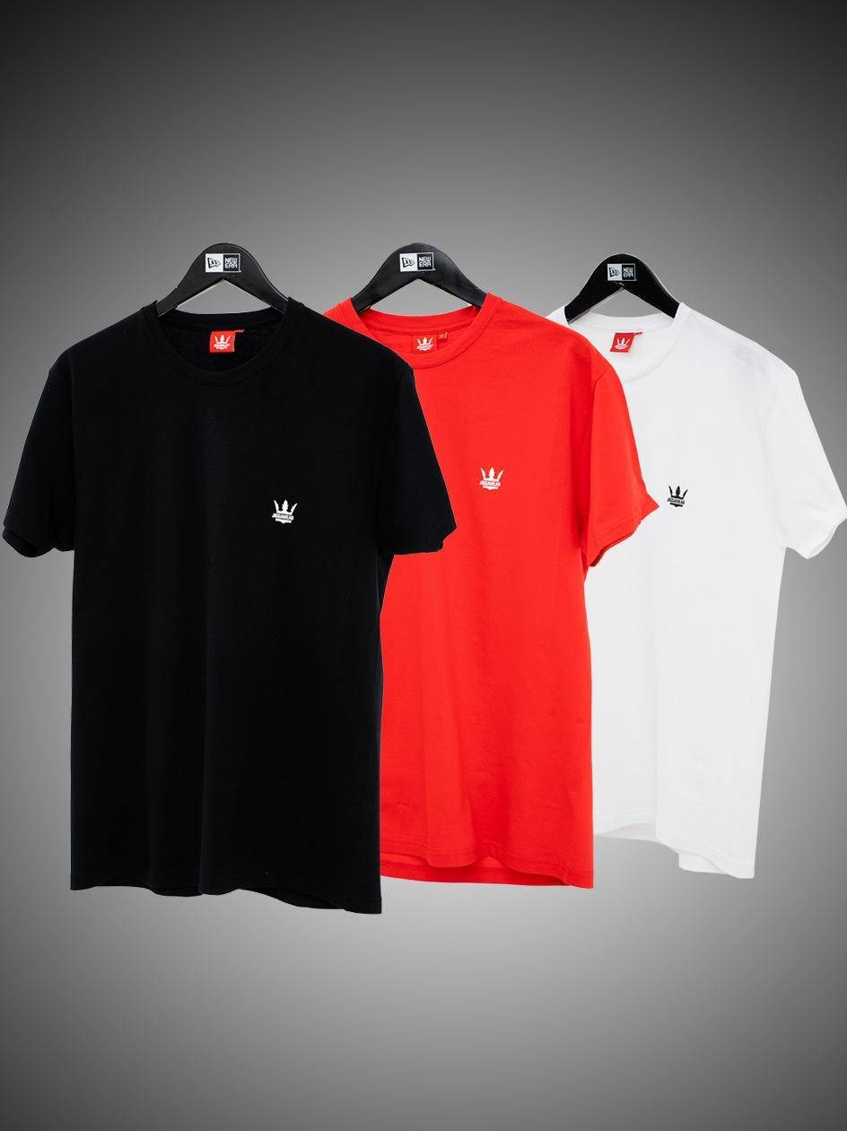 Zestaw 3 T-Shirtów Jigga Wear Mini Crown Czarna / Biała / Czerwona