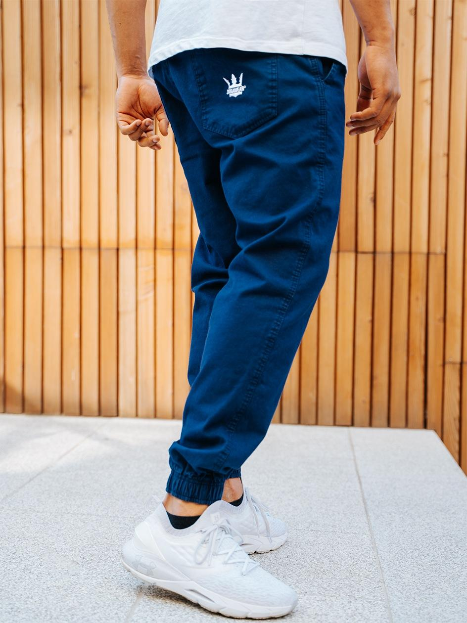 Spodnie Materiałowe Jogger Jigga Crown Midnight Granatowe