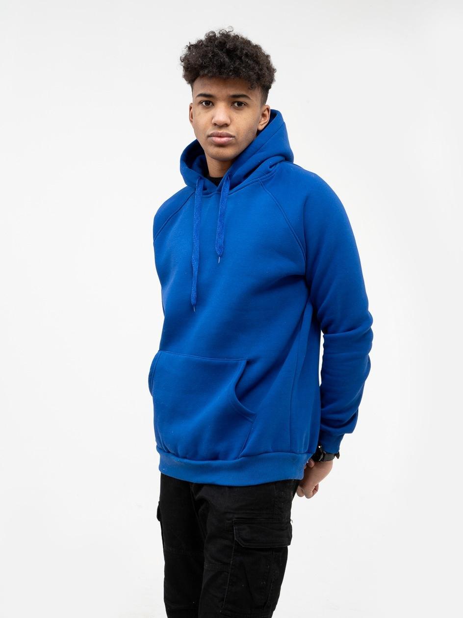 Bluza Z Kapturem Jigga Wear No Logo Niebieska