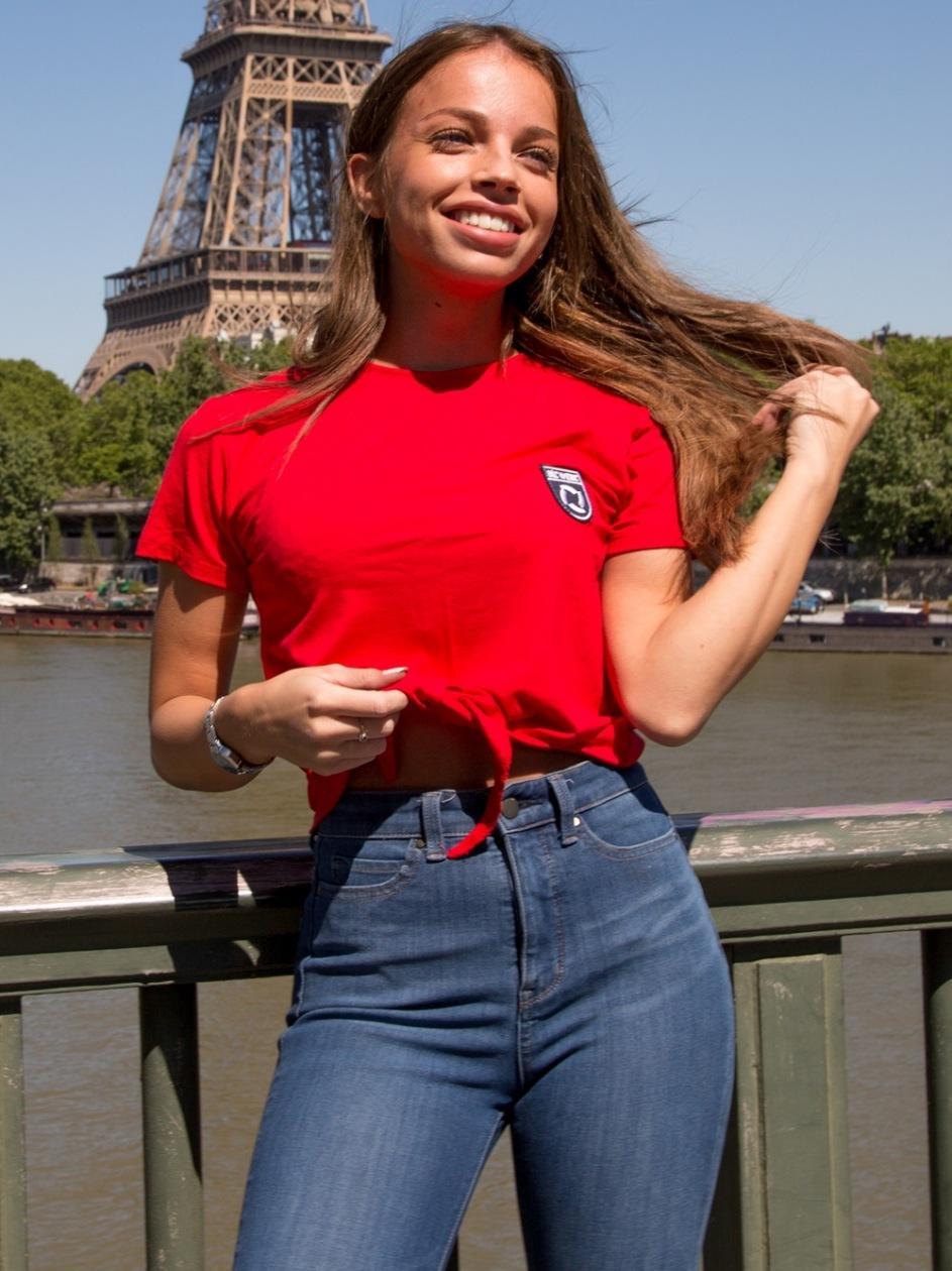 Damska Krótka Koszulka ATR Wear Brand Czerwona