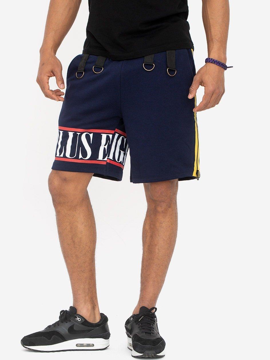 Side Zip Short Navy