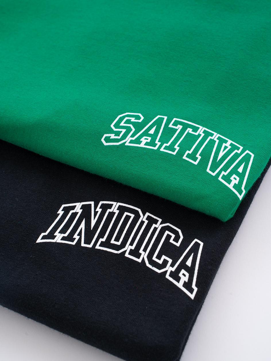 Zestaw 2 T-Shirtów Kush Mini Sativa Indica Czarny / Zielony