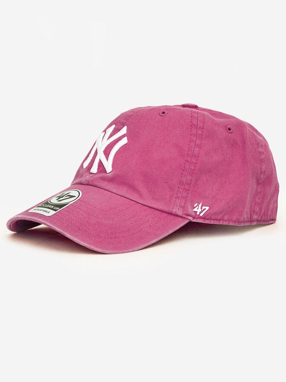Czapka Z Daszkiem Dad Hat 47 Brand New York Yankees Clean Up Malinowa