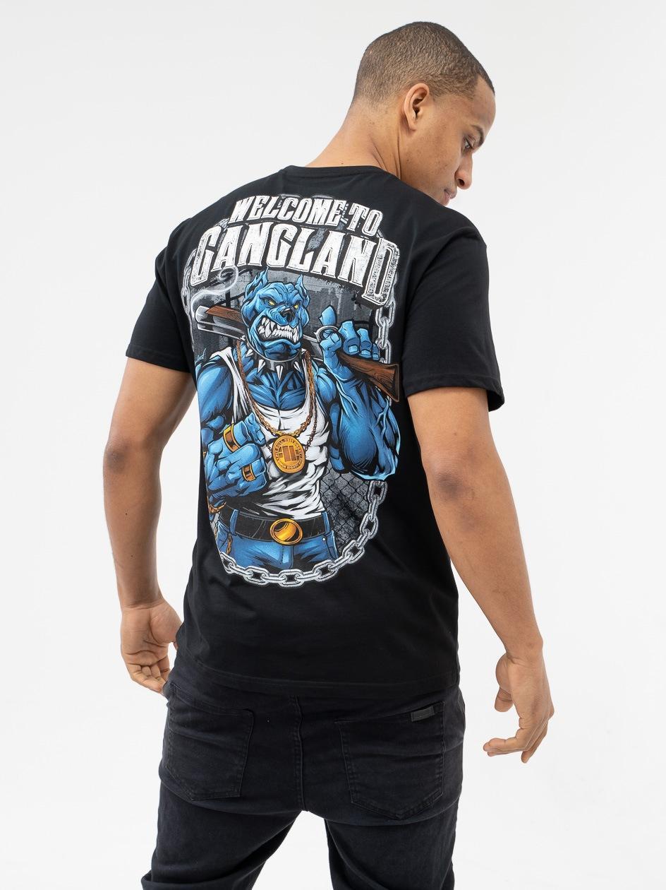Koszulka Z Krótkim Rękawem Pitbull West Coast Gangland 2019 Czarna