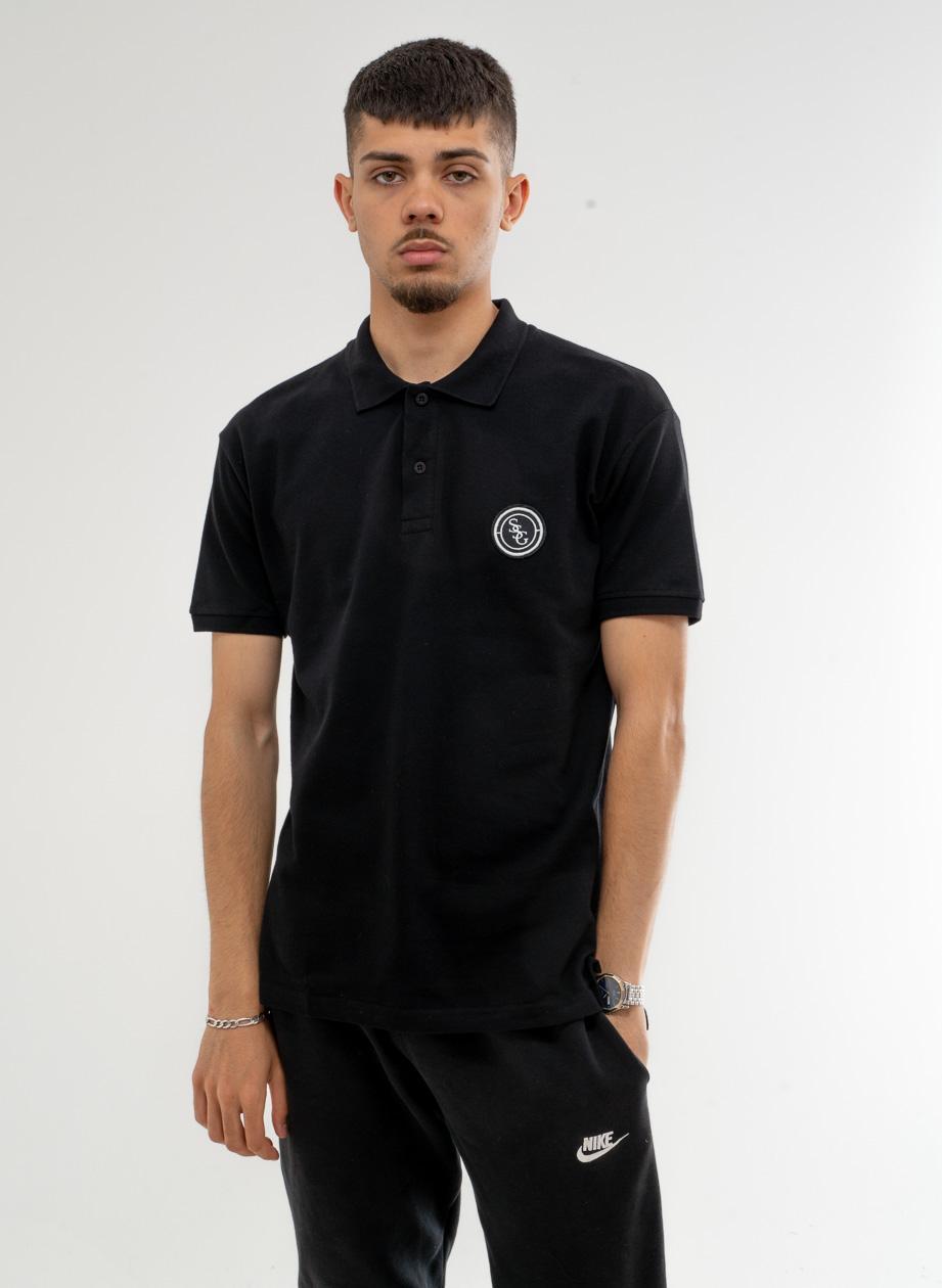 Koszulka Polo Z Krótkim Rękawem SSG Straight Czarna