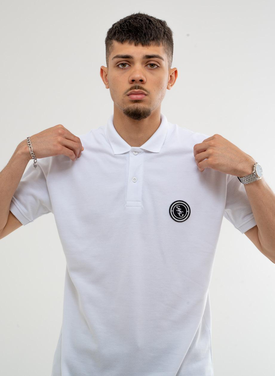Koszulka Polo Z Krótkim Rękawem SSG Straight Biała