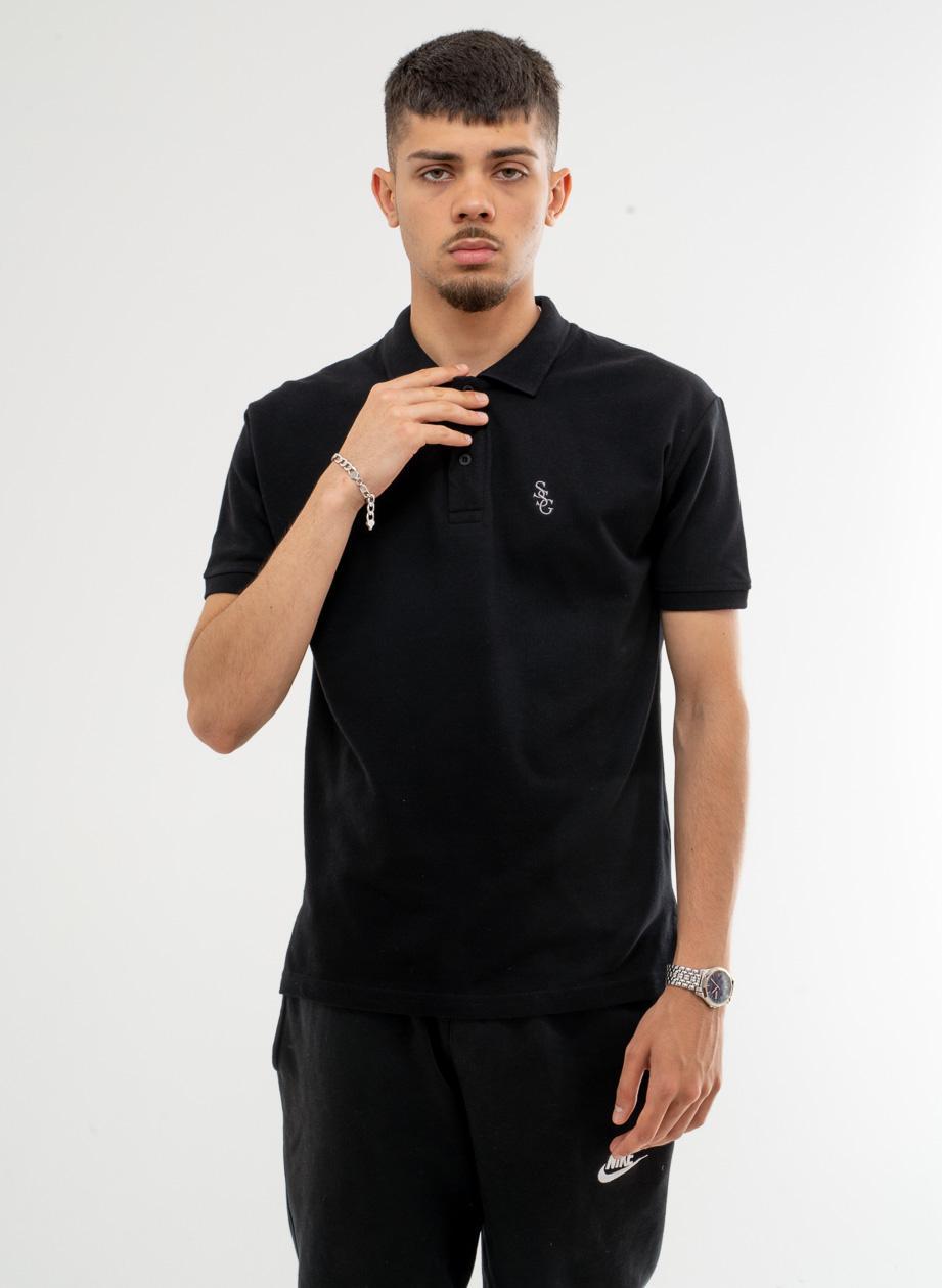 Koszulka Polo Z Krótkim Rękawem SSG Slant Czarna