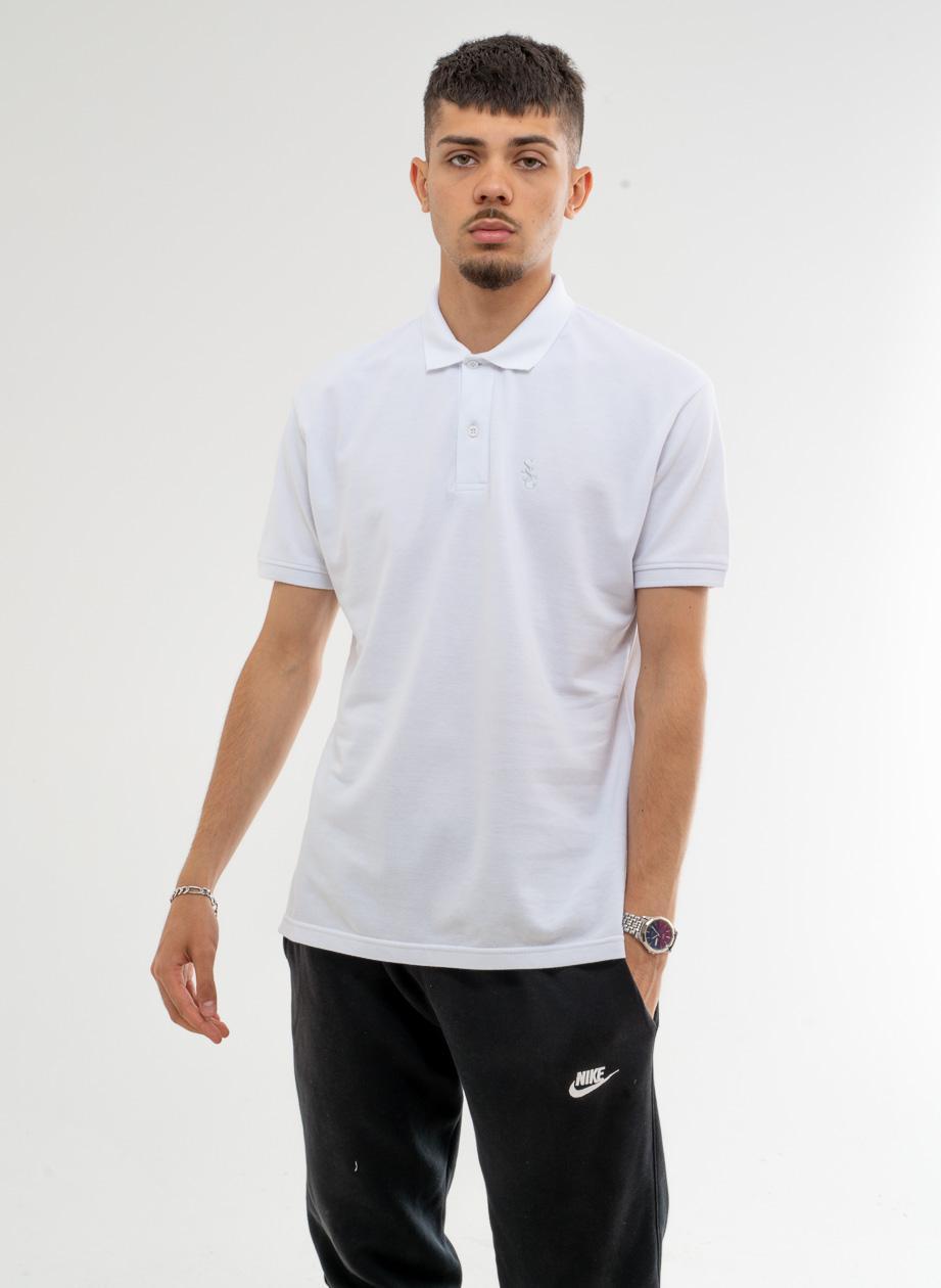 Koszulka Polo Z Krótkim Rękawem SSG Slant Biała