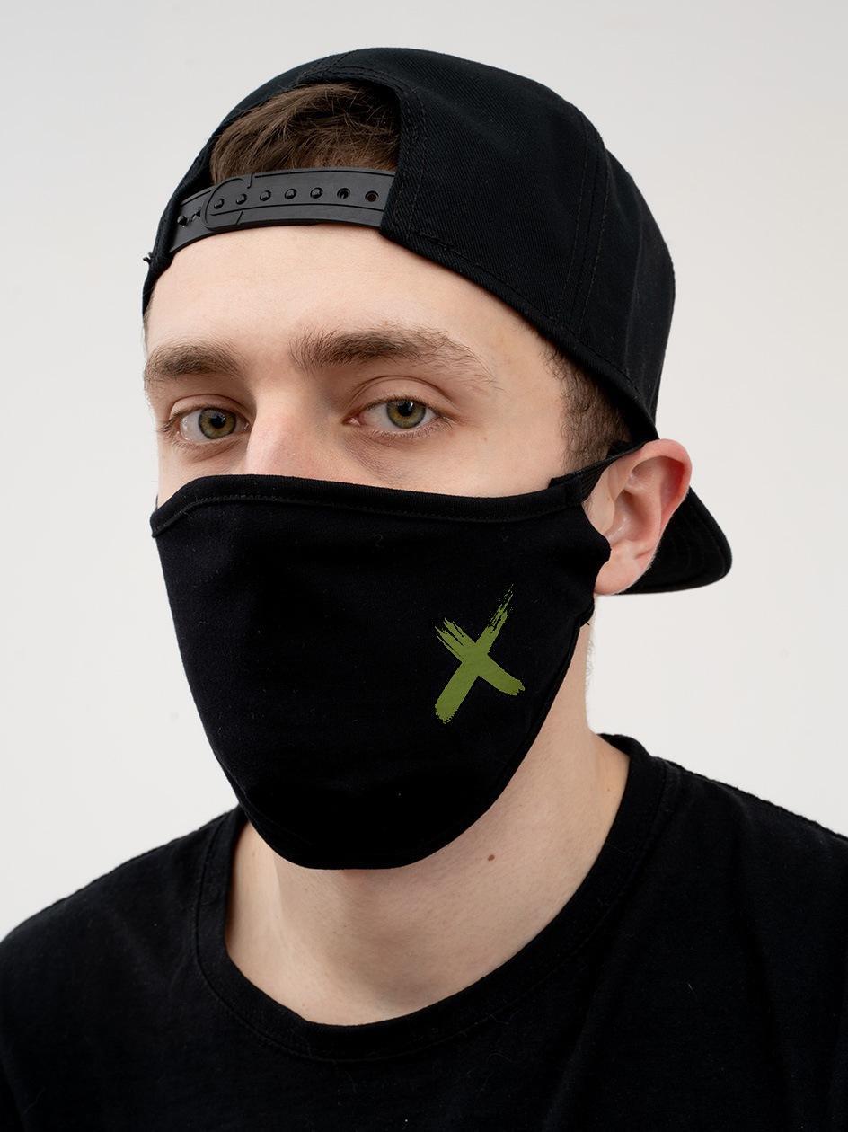 Maska Streetwearowa Point X Small X Czarna / Oliwkowa