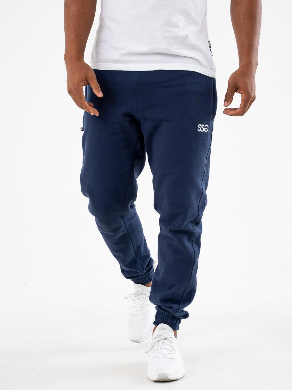 Spodnie Dresowe Slim SSG Small Classic Granatowe