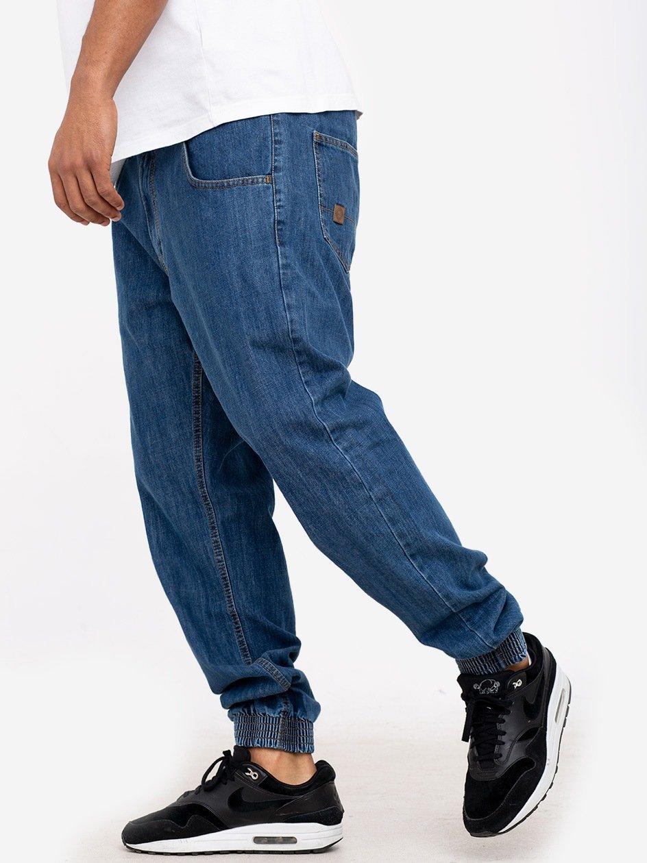 Spodnie Jeansowe Jogger Metoda Sport Small Leather MH Sport Niebieskie