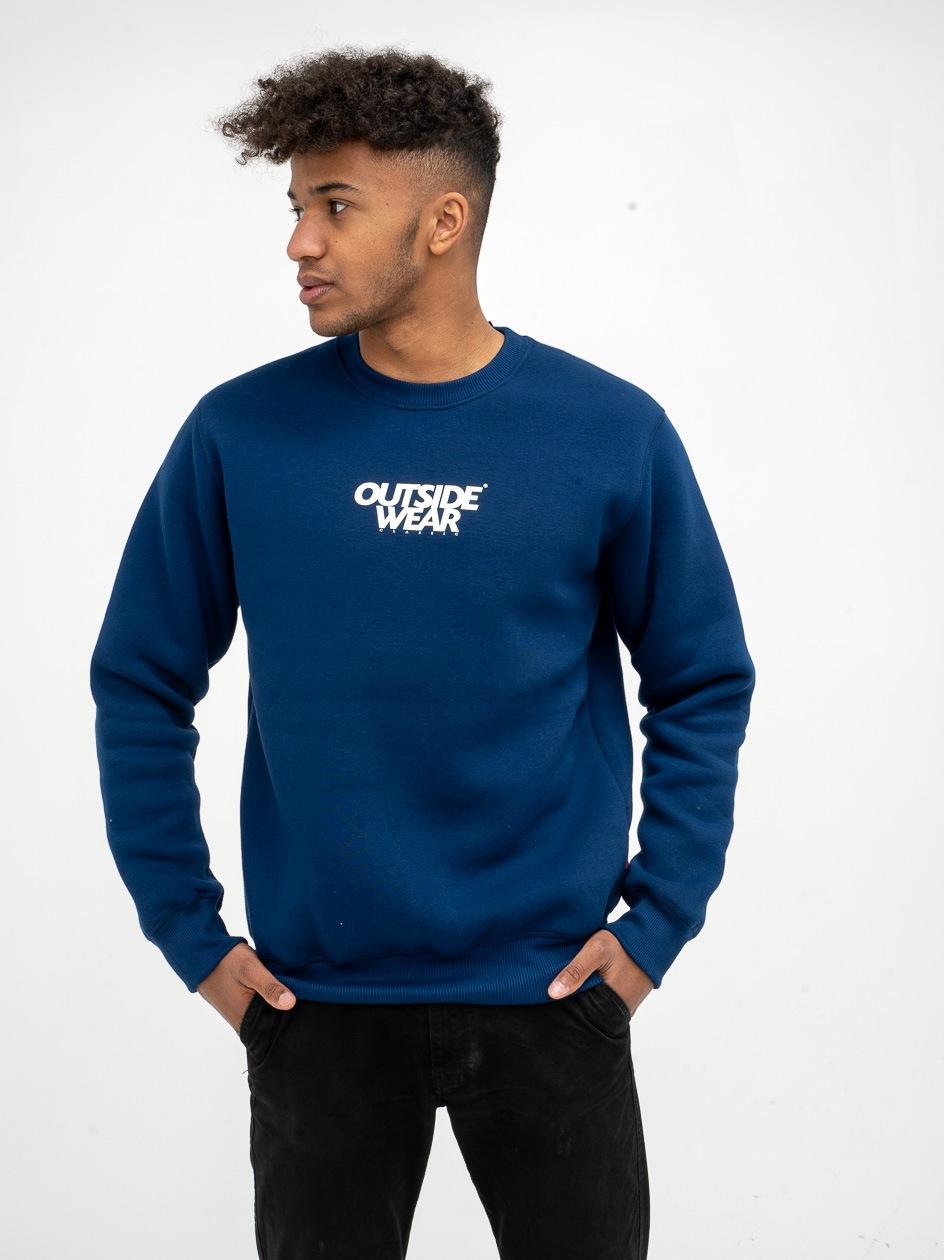 Bluza Bez Kaptura Outsidewear CLS Granatowa