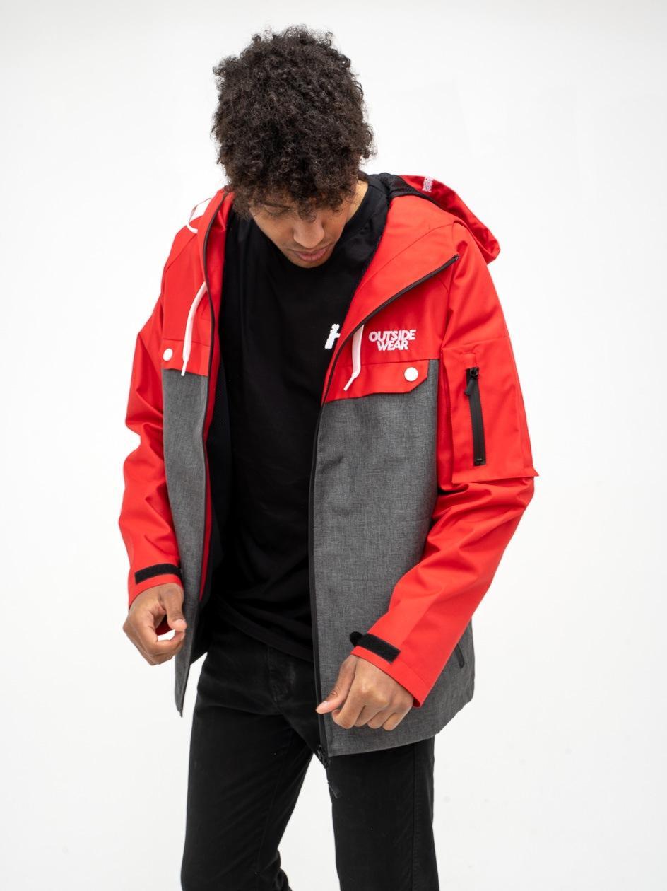 Kurtka Przejsciowa Outsidewear Vento Czerwona