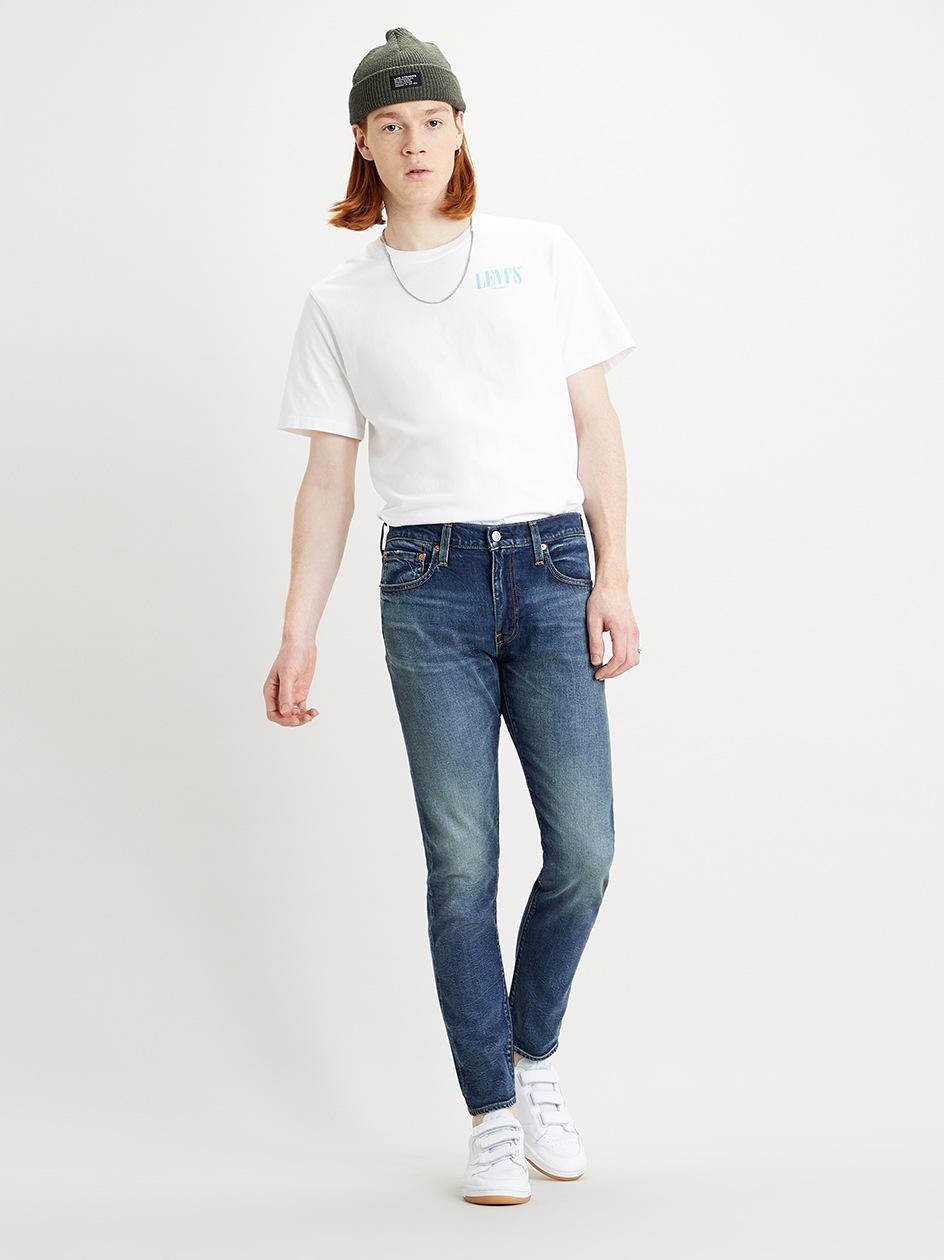 Spodnie Jeansowe Slim Levi's 512 Sprane Niebieskie