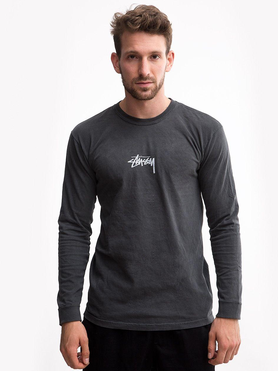 Stock Pig. Dyed LS Tee Black