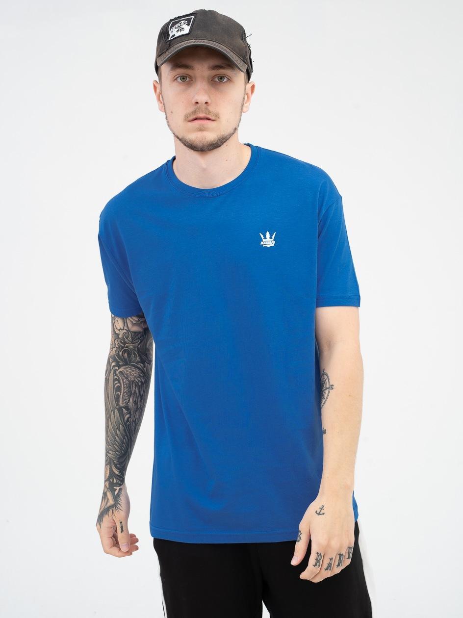Koszulka Z Krótkim Rękawem Jigga Wear Mini Crown Ciemna Niebieska