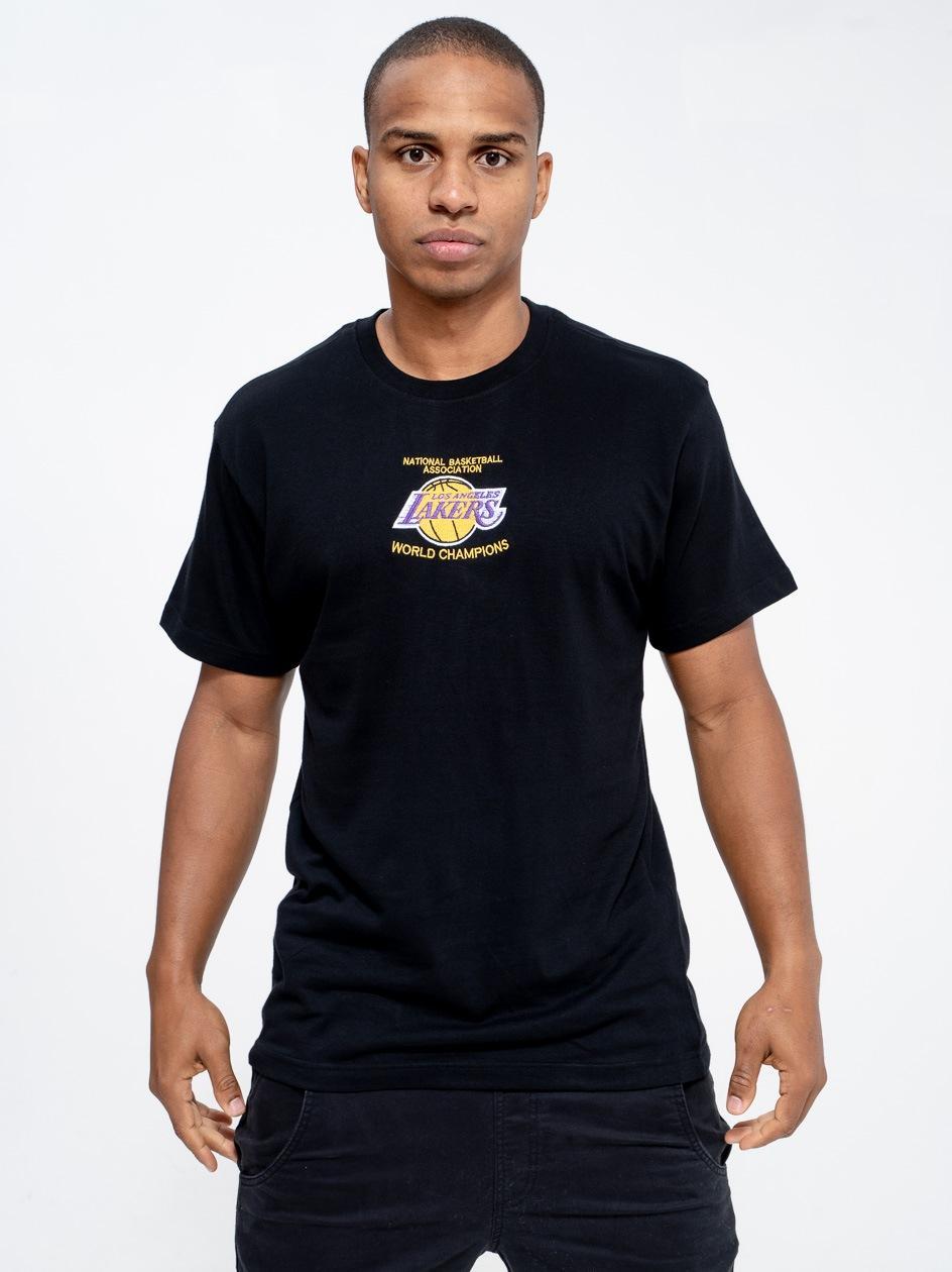 Koszulka Z Krótkim Rękawem Mitchell & Ness Los Angeles Lakers NBA Deadstock Champs Czarna