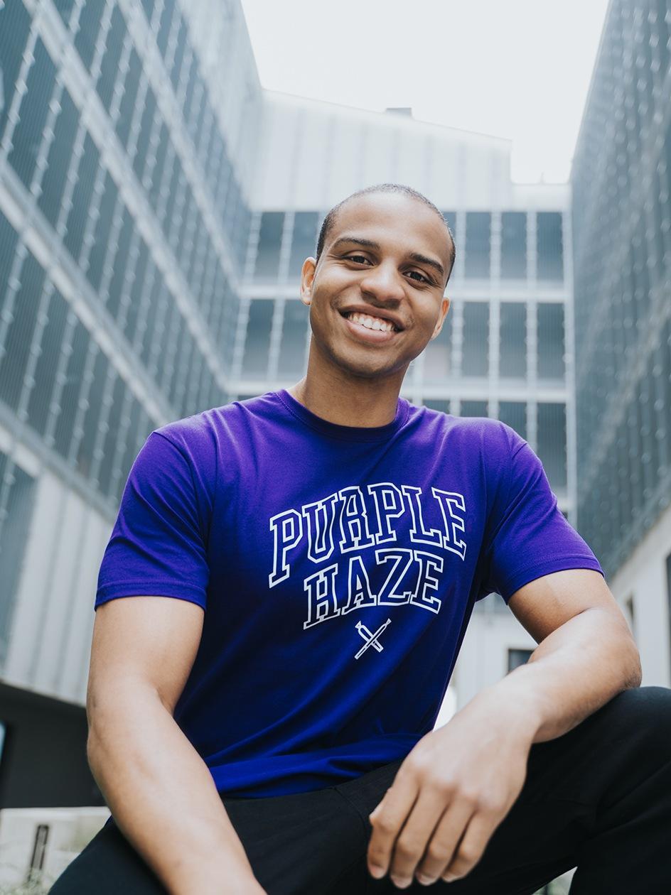 Koszulka Z Krótkim Rękawem Kush Purple Haze Fioletowa