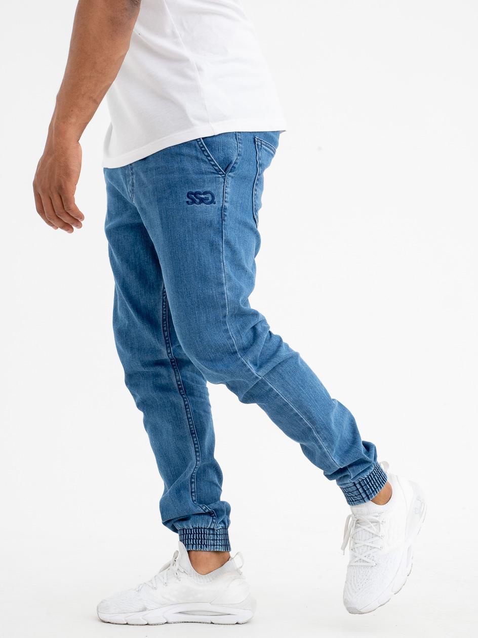Spodnie Jogger Slim Jeans SSG Front Jasne Niebieskie