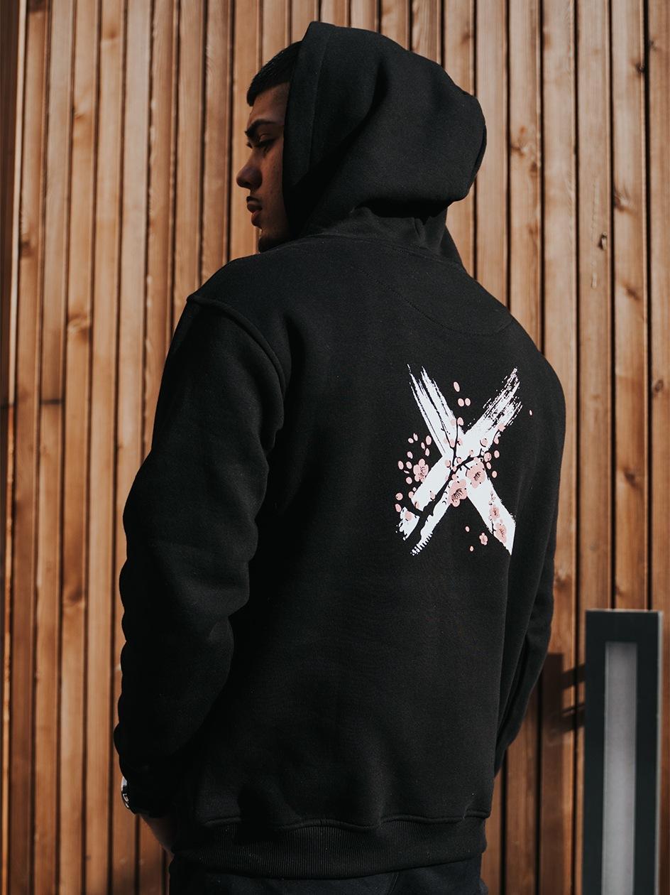 Bluza Z Kapturem Point X Sakura Logo Czarna