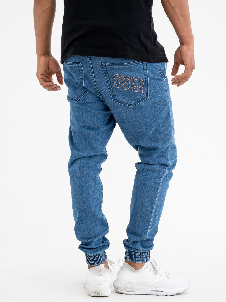 Spodnie Jogger Slim Jeans SSG Outline Jasne Niebieskie copy