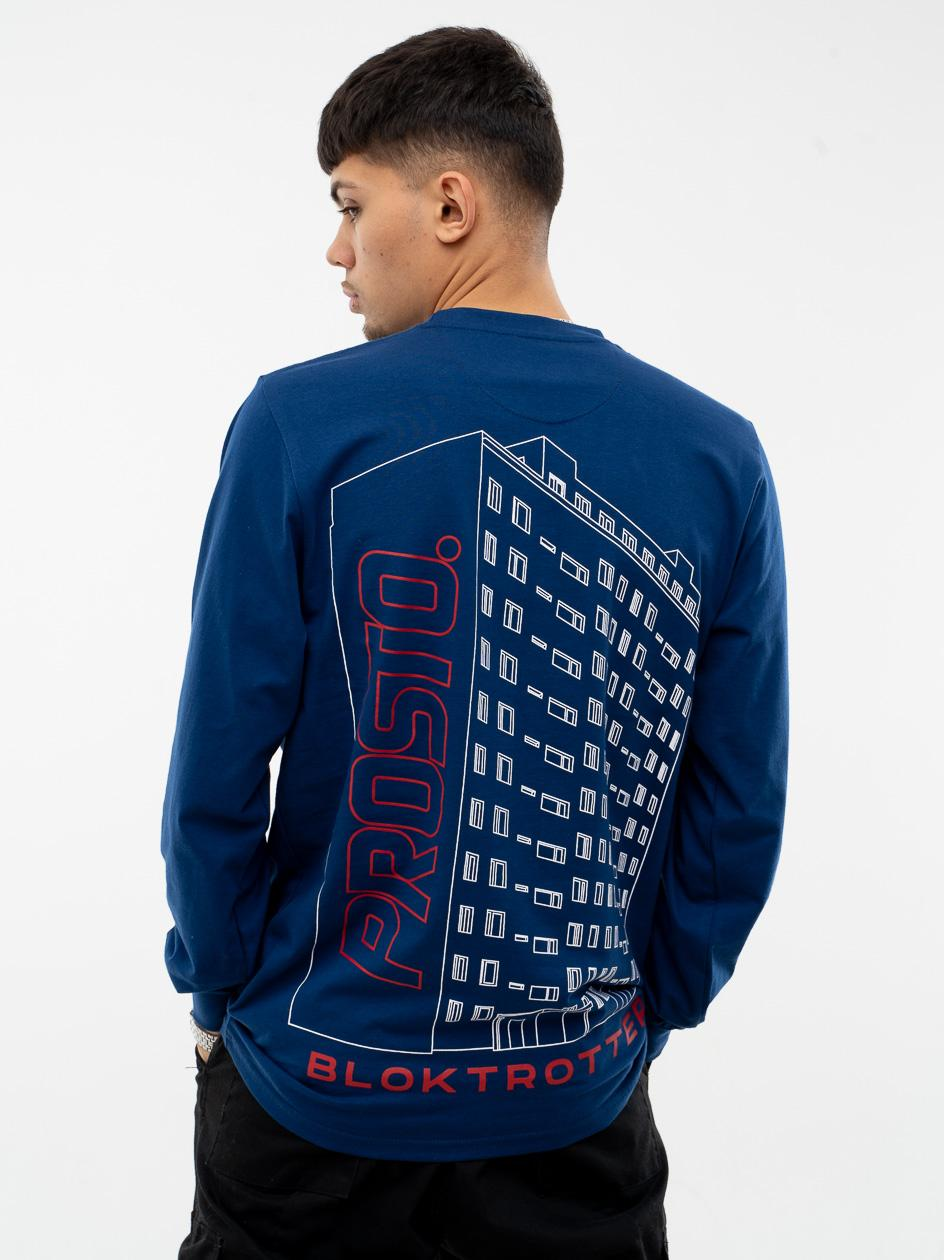 Koszulka Z Długim Rękawem Prosto Blocktro Niebieska