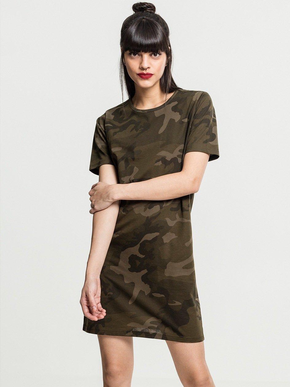 Ladies Camo Tee Dress Olive Camo TB2221