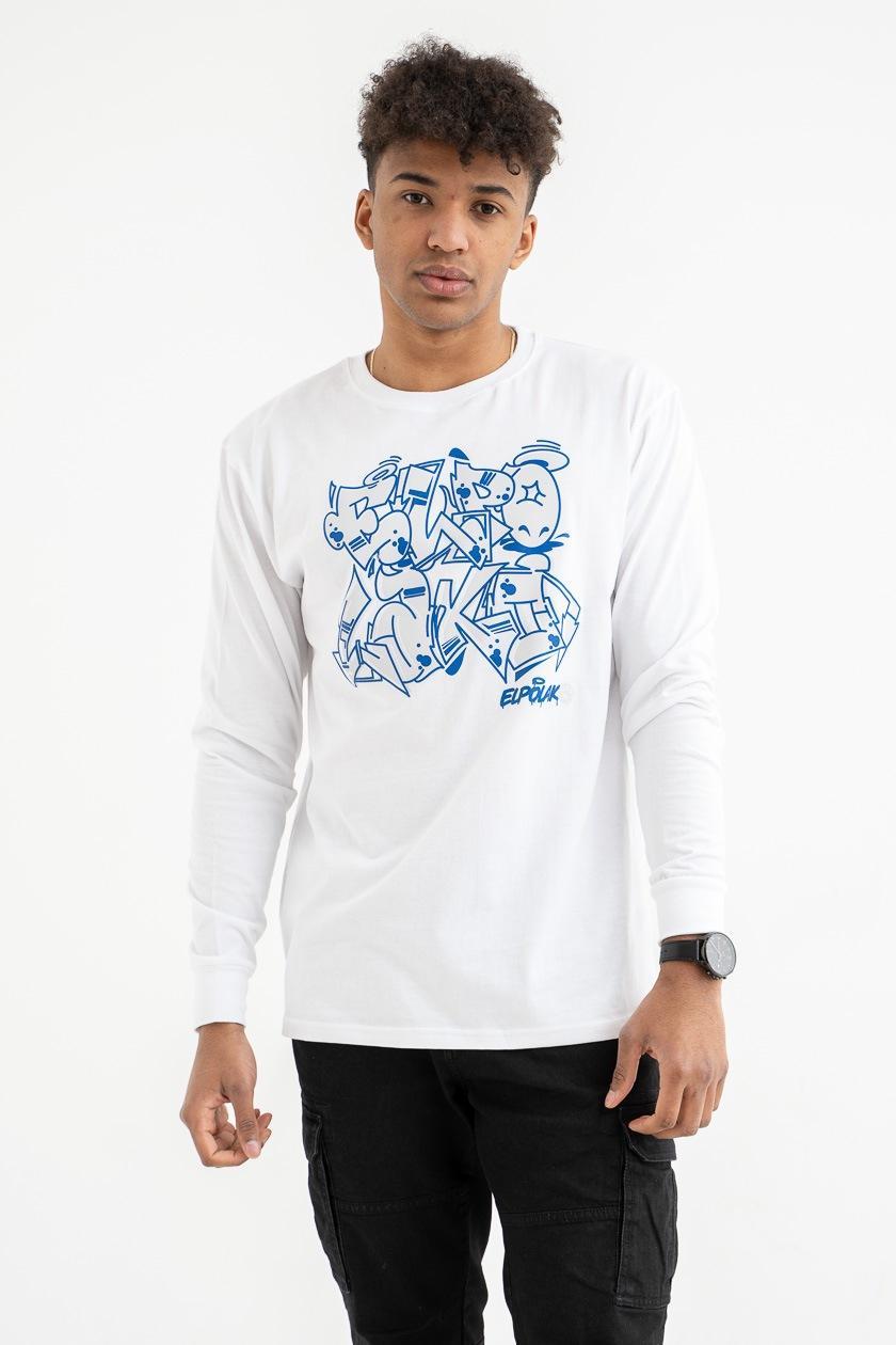 Koszulka Z Długim Rękawem El Polako Graffiti Biała