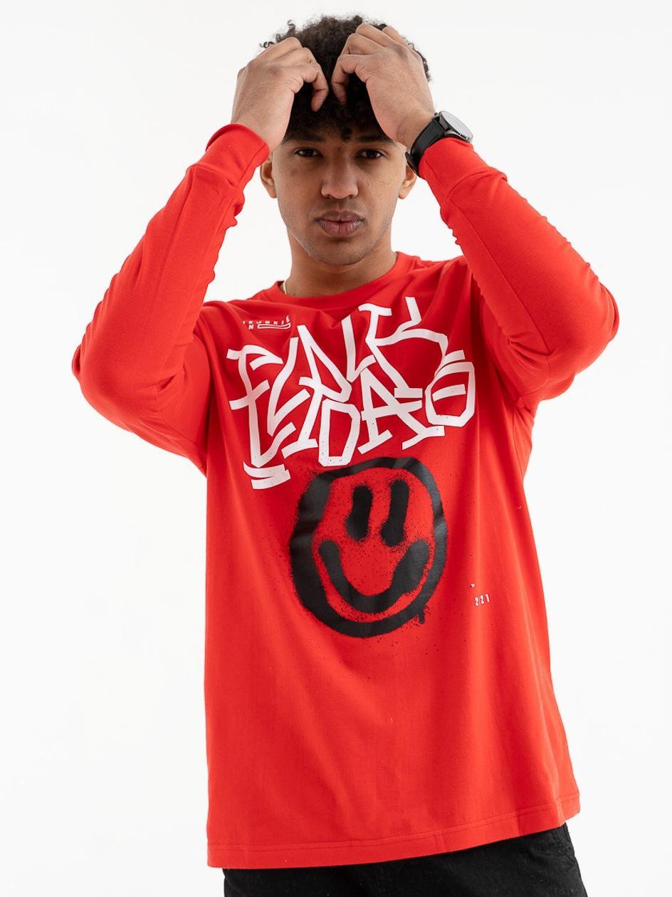 Koszulka Z Długim Rękawem El Polako Smile Czerwona