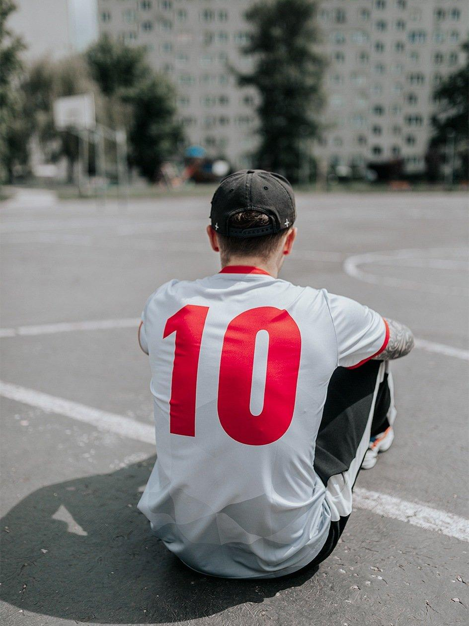 Football Jersey 10 White Red