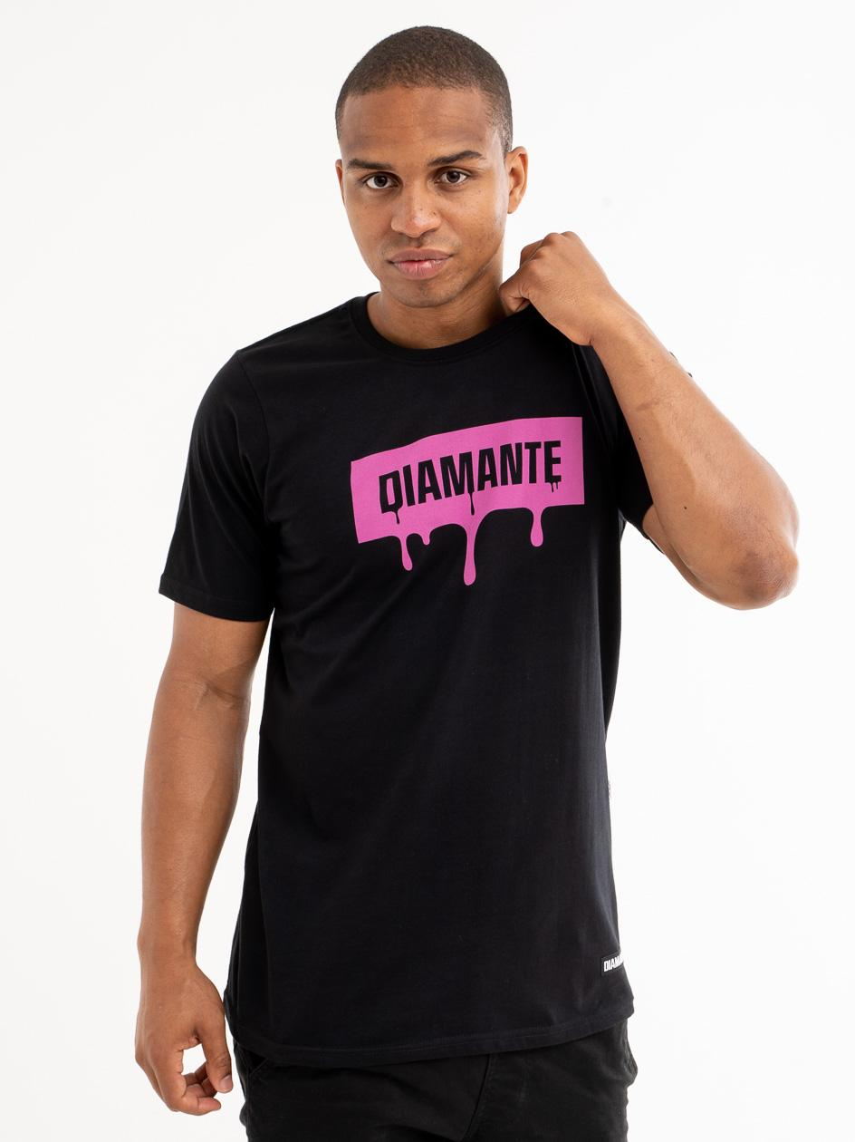 Koszulka Z Krótkim Rękawem Diamante Wear Melty Boxlogo Czarna