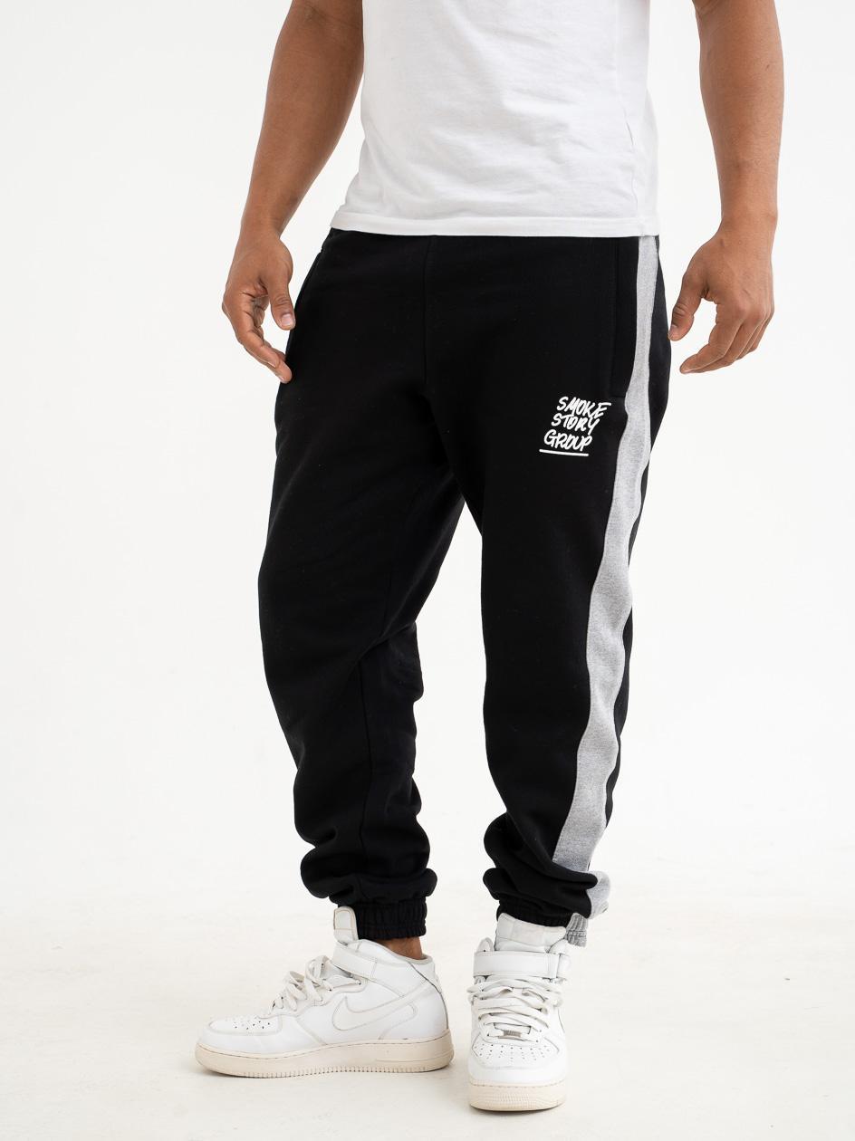 Spodnie Dresowe Slim SSG Raglan Smoke Czarne