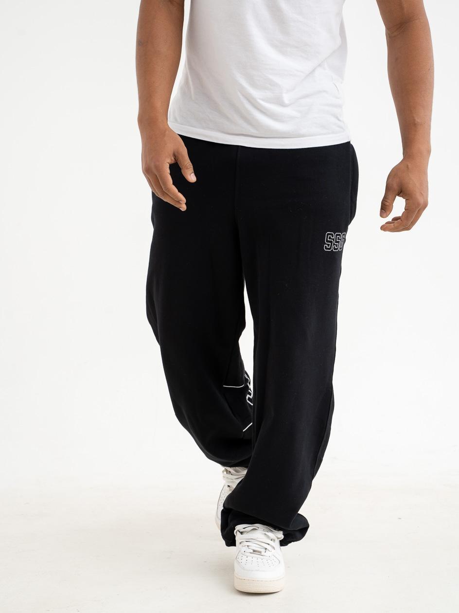 Spodnie Dresowe Baggy SSG Pipping Outline Czarne